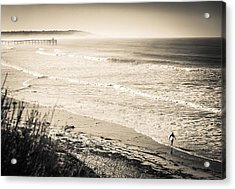 Acrylic Print featuring the photograph Lonely Pb Surf by T Brian Jones