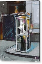 Lonely Phone Booth Acrylic Print by Russell Pierce