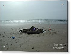 Lonely Sandcastle Acrylic Print
