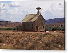 Lonely Schoolhouse Acrylic Print by Marty Koch