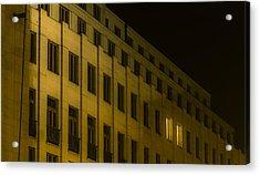 Lonely Shining Office Acrylic Print by Marek Boguszak