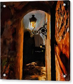 Lonely Street Acrylic Print by Charlie Roman