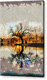 Lonely Tree And Its Thoughts Acrylic Print