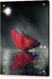 Lonely Umbrella Acrylic Print