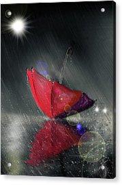 Lonely Umbrella Acrylic Print