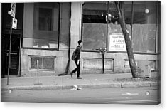 Acrylic Print featuring the photograph Lonely Urban Walk by Valentino Visentini