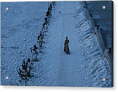 Lonely Walk/tsagaan Sar Acrylic Print