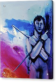 Acrylic Print featuring the painting Lonely Warrior  by Rene Capone