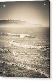 Acrylic Print featuring the photograph Lonely Winter Waves by T Brian Jones