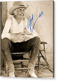 Lonesome Dove Gus Signed Print Acrylic Print by Peter Nowell