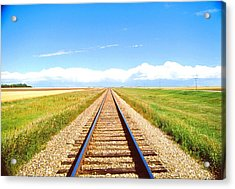 Lonesome Railroad Acrylic Print