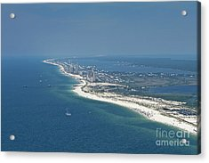 Long, Aerial, Beach View Acrylic Print