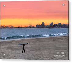 Long Beach From Huntington Beac Acrylic Print