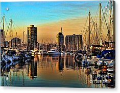 Acrylic Print featuring the photograph Long Beach Harbor by Mariola Bitner