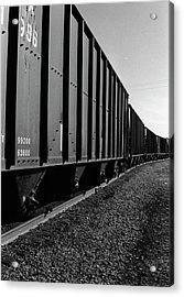 Acrylic Print featuring the photograph Long Black Train by Tara Lynn