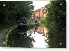 Long Boat On The Channel In England Acrylic Print by Joyce Woodhouse