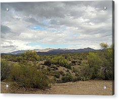 Acrylic Print featuring the photograph Long Desert View by Gordon Beck