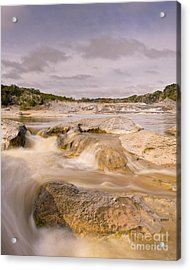 Long Exposure Of The Pedernales River - Pedernales Falls State Park Texas Hill Country Acrylic Print by Silvio Ligutti