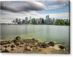 Acrylic Print featuring the photograph Long Exposure Of Vancouver City by Pierre Leclerc Photography