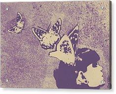 Long Gone Whisper - Amaranth Acrylic Print