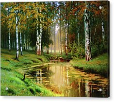 Long Indian Summer In The Woods Acrylic Print