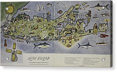 Acrylic Print featuring the photograph Long Island An Interpretive Cartograph by Duncan Pearson