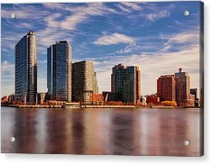 Acrylic Print featuring the photograph Long Island City Skyline Nyc by Susan Candelario