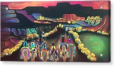 Acrylic Print featuring the painting Long Journey by Jan Oliver-Schultz