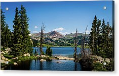 Acrylic Print featuring the photograph Long Lake Wyoming No. 2 by TL Mair