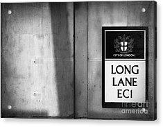 Long Lane Ec1 Acrylic Print