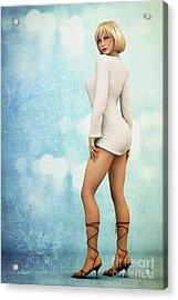 Acrylic Print featuring the digital art Long Legs by Jutta Maria Pusl