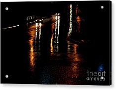 Long Lights At Night Acrylic Print by Gary Chapple