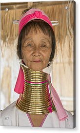 Acrylic Print featuring the photograph Long Necked Karen Woman by Wade Aiken