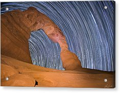 Long Night At Delicate Arch Acrylic Print
