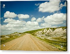 Long Road Ahead Acrylic Print by Sandy Adams