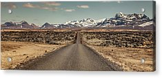Acrylic Print featuring the photograph Long Road Ahead by Wade Courtney