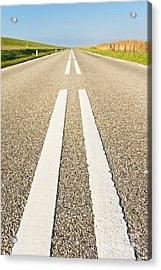 Long Road Acrylic Print by David Bleeker