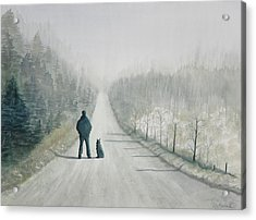 Long Road Home Acrylic Print by Ally Benbrook