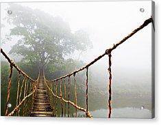 Long Rope Bridge Acrylic Print