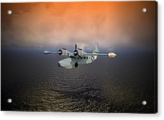 Acrylic Print featuring the digital art Long Trip Home by Mike Ray
