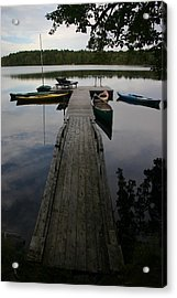 Long Walk On Dock Acrylic Print by Dennis Curry