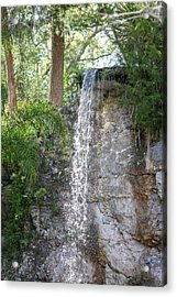 Acrylic Print featuring the photograph Long Waterfall Drop by Raphael Lopez