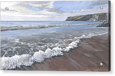 Long Waves At Trebarwith Acrylic Print