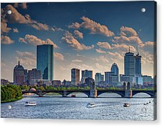 Longfellow Bridge And The Boston Skyline Acrylic Print