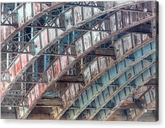 Longfellow Bridge Arches II Acrylic Print by Clarence Holmes