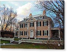 Longfellow House At Sunset Acrylic Print