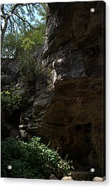 Acrylic Print featuring the photograph Longhorn Caverns Entrance by Karen Musick