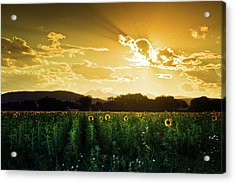 Acrylic Print featuring the photograph Longmont Summer Skies 2 by John De Bord