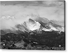 Longs Peak And A Mean Storm Acrylic Print by James BO  Insogna