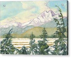 Long's Peak From Longmont Acrylic Print